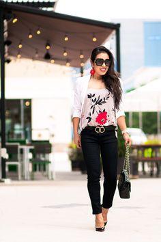 06b15b4c78a75 cute & little | dallas petite fashion blogger | white blazer, loft  botanical charmeuse cami