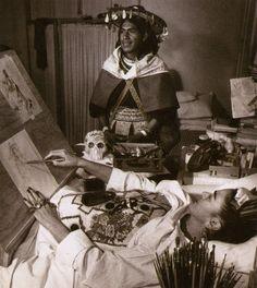 Frida Kahlo and Otemio by Héctor García