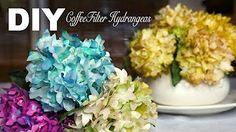 Crepe paper flowers Hydrangea Easy & Simple FULL tutorial FREE ! - YouTube