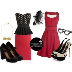 """Rockabilly Looks!"" by modcloth on Polyvore - They seem more Pinup girl to me but love it"
