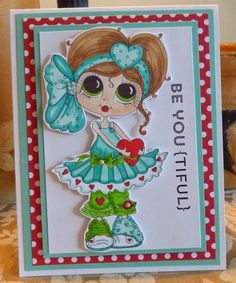Bestie card by Cheryl Moody.... flat enough to mail