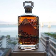 Hibiki 21 Year! ✨Mt. Fuji Limited Edition Japanese Blended Whisky! Hard to Not Like these Special Bottles!   .  .  .  .  Courtesy: @caskd.co Hibiki 21 Mt. Fuji edition (NOT the Kacho Fugetsu) blends right in with this great view of the San Francisco Bay Bridge! Which limited edition Hibiki is your favorite? This one is definitely on the top of my list... Although the Hibiki 17 Old Egrets or Shirasagi would easily trump this one!  . . . . . . . . #singlemalt #scotchwhisky #suntory #suntor...