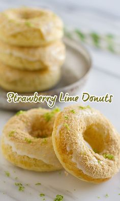 Strawberry Lime Donuts