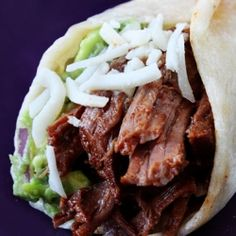 Slow-Cooker Shredded Beef Tacos -- so simple, yet so delicious!!!