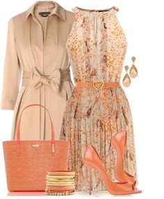 """""""Coral For Spring"""" by yasminasdream on Polyvore"""