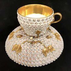 Meissen Snowball Cup And Saucer Saucer. w cup h on Dec 2017 Tea Cup Set, My Cup Of Tea, Tea Cup Saucer, Tea Sets, Tea Rose Garden, Rose Tea, Roses Garden, Antique Tea Cups, Vintage Teacups