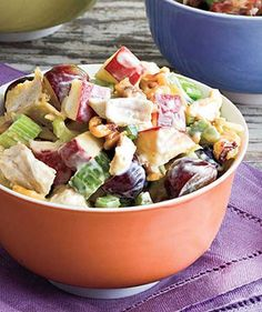 Recipe for Waldorf Chicken Salad - Add chicken and grapes to the classic Waldorf salad to make it a hearty main dish.