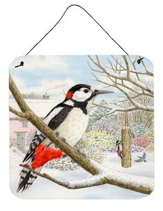 Spotted Woodpecker by Sarah Adams Wall or Door Hanging Prints ASAD0701DS66