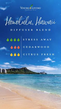 Young Essential Oils, Essential Oils Guide, Essential Oil Uses, Doterra Essential Oils, Design Facebook, Essential Oil Combinations, Stress, Essential Oil Diffuser Blends, Honolulu Hawaii