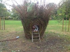 #Willow Garden Or Yard / Outside and Outdoor #artwork by #artist Hester Pilz titled: 'Nest'. #art #sculptor #sculpture #HesterPilz