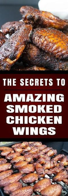 Amazing Smoked Chicken Wings - The Secrets to making amazingly delicious smoked wings with step by step instructions. These will be a smashing success at any kind of get-together. MUST TRY! Traeger Recipes, Smoked Meat Recipes, Grilled Chicken Recipes, Chicken Wing Recipes, Grilling Recipes, Grilled Shrimp, Grilled Salmon, Venison Recipes, Rib Recipes