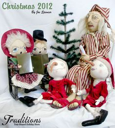 More Christmas Joe Spencer dolls!  Don't you just love that Ebeneezer and the candle he is holding lights!