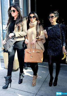 Kardashian Sister's fall style. Love em, or hate em, they still have better style than you & me! Ha!
