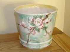sylvac apple blossom planter 2378