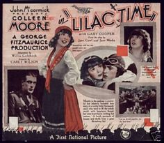 """Lilac Time 1928 Film   Lilac Time"""" - 1928   Silent/1920's film stills, posters etc   Pinter ..."""