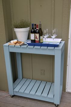 Outdoor Pallet Rolling Cart