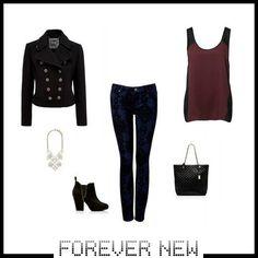 Forever New, klasik jean'i brokar deseniyle feminenleştiriyor.