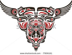 Haida style tattoo design created with animal images. by Artem Efimov, via ShutterStock