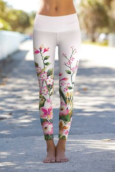 Shop for Women Mountain Garden Lucy Floral Performance Leggings in designer custom print Floral Gym Leggings, Women's Leggings, Cheap Leggings, Printed Leggings, Bambam, Pineapple Clothes, Fashion 2017, Fashion Trends, Yoga Fashion