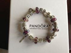 Purple holiday bracelet