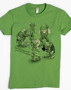 GRENOUILLE FROG étang T-shirt motif imprimé Funshirt Design Print