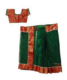 Set: blouse, saree & petticoat www. Kids Saree, Saree Petticoat, Half Saree, Blouse, Langa Voni, Blouses, Woman Shirt, Hoodie, Top