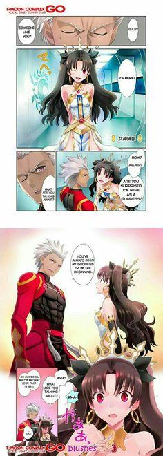 Ishtar (Rin) and Archer Emiya