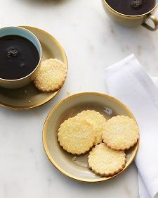 """Sable Cookies -- These delicate, crumbly cookies hail from France's Normandy region and are delicious plain, dipped in dark chocolate, or sandwiched with jam. Once you have a handle on the basic recipe, try adding almonds, orange zest, or other flavorings. Adapted from """"Entertaining."""""""