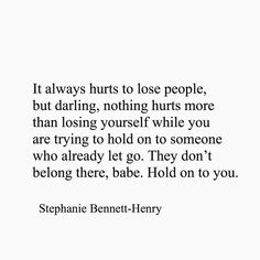 Stephanie Bennett Henry, Already Gone, Lost People, Losing You, Letting Go, It Hurts, Let It Be, Motivation, Words