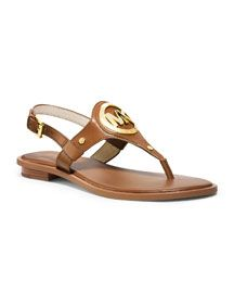 X22X2 MICHAEL Michael Kors  Aubrey Logo Thong Sandal