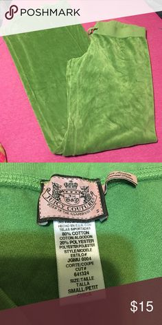 Juicy couture Great condition;green; no flaws Juicy Couture Pants Track Pants & Joggers