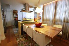 cozinha, ladrilho hidráulico na cozinha, casa casada
