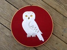 Harry Potter Inspired Snowy Owl Hedwig Applique Embroidery Design File INSTANT DOWNLOAD for DIY projects, from Designed by Geeks. Use any embroidery machine - Brother, Viking, Janome, Bernina, Pfaff, Singer - to stitch this design.  Inspired by Harry Potter's pet, this is an applique design of a snowy owl.
