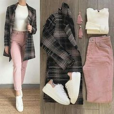 Image may contain: one or more people and shoes Image may contain: one or more people and shoes Casual Work Outfits, Business Casual Outfits, Mode Outfits, Simple Outfits, Classy Outfits, Outfits For Teens, Trendy Outfits, Semi Formal Outfits For Women, Casual Hijab Outfit