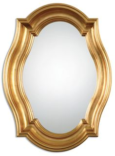 Lightly Antiqued Gold Leaf Wood Mirror      Click here to purchase: http://www.houzz.com/photos/22168842/lid=10869638/Lightly-Antiqued-Gold-Leaf-Wood-Mirror-traditional-mirrors