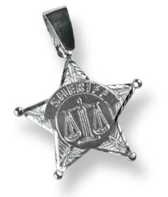 Sterling Silver Sheriff Star Charm