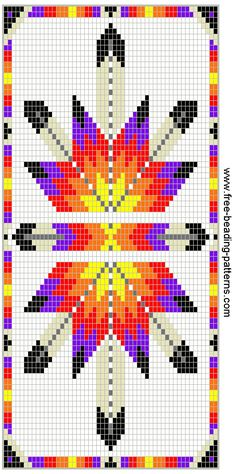Bilderesultat for Native American Loom Beading Patterns Free Native Beading Patterns, Beadwork Designs, Seed Bead Patterns, Peyote Patterns, Weaving Patterns, Cross Stitch Patterns, Jewelry Patterns, Bracelet Patterns, Cross Stitches