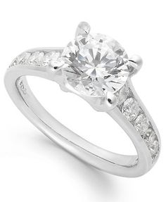 X3 Certified Diamond Engagement Ring in 18k White Gold (2 ct. t.w.) ($27,000.00)
