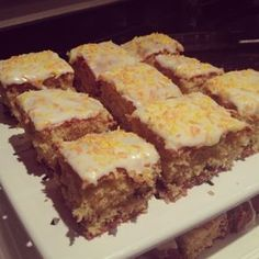 """Mary Berry recipe a delicious """"Orange and Sultana tray bake"""" - tried this today and very nice indeed! Tray Bake Recipes, Baking Recipes, Cake Recipes, Dessert Recipes, Desserts, Bread Recipes, British Baking, British Bake Off, Mary Berry Baking"""