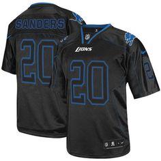 24.99 nike limited barry sanders lights out black mens jersey detroit lions 20 nfl