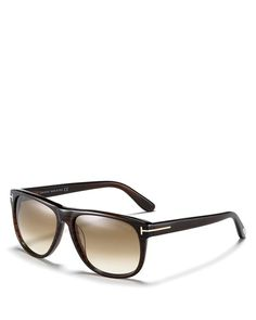 Thin wayfarer sunglasses with gradient lenses, a casually cool style from Tom…