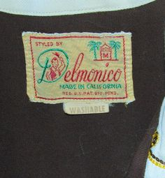 Delmonico label -1940s