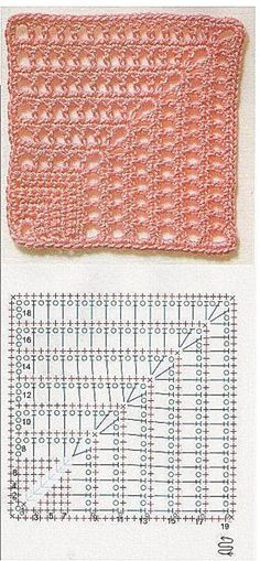 Transcendent Crochet a Solid Granny Square Ideas. Inconceivable Crochet a Solid Granny Square Ideas. Gilet Crochet, Crochet Motifs, Crochet Blocks, Granny Square Crochet Pattern, Crochet Mandala, Crochet Diagram, Crochet Stitches Patterns, Crochet Chart, Crochet Squares