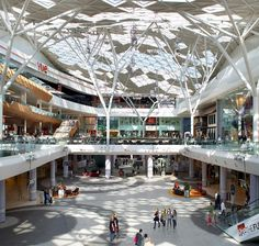 Benoy Architecture project, Westfield London, is a celebrated Architectural and Commercial success for the London Retail, Leisure & Tourism Sectors. Modern Architecture, Mall Design, Retail Design, Prado, Shopping Mall Interior, Shopping Mall Architecture, Shoping Mall, Mall Facade, School