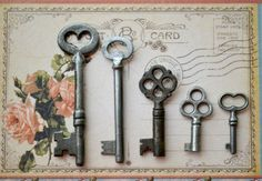 Lovely Collection of 5 Vintage Keys