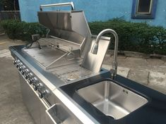 Cheap outdoor kitchens for sale in Perth - something that can't be missed. Equipped with burner gas grills, sink cabinet and fridge cabinet. Visit INEX Outdoor Entertaining online to buy. Outdoor Kitchens For Sale, Outdoor Entertaining, Grills, Perth, Outdoor Living, Sink, Kitchen Appliances, Stainless Steel, Cabinet