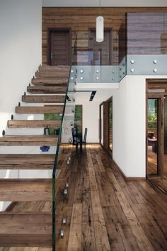 10 unique modern staircase design ideas for your dream house 28 - Popular Loft Staircase, Interior Staircase, Stairs Architecture, Interior Architecture, Staircases, Exterior Stairs, Architecture Student, Tiny House Stairs, D House