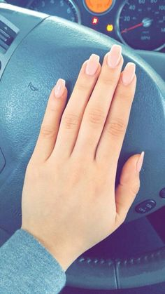 Diy manicure and nice nude pink color