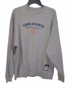 Reebok NFL Team Apparel Mens Chicago Bears Grey Thick ON FIELD Sweatshirt Large #NFL #SweatshirtCrew