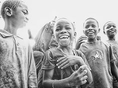 Children laughing in Africa